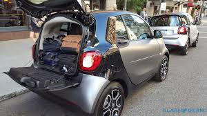 stanced smart car 2016 smart fortwo first drive better not bigger slashgear