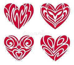 tribal hearts u2013 tattoo set stock vector image of romance 12352358