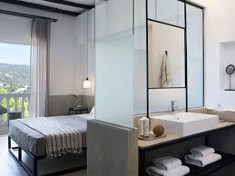 Bathroom Floor Lighting by Tripod Floor Lamps Shining In Skiathos Blu Hotel