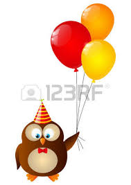 owl balloons birthday owls with balloons royalty free cliparts vectors