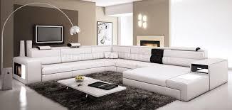 Modern Bonded Leather Sectional Sofa Polaris Sectional Sofa In White Bonded Leather By Vig Furniture