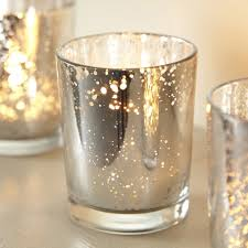 mercury tea light holders aged glass silver tea light holder teas glass and tea light holder