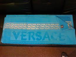 fabricant serviette de plage versace style bleu deluxe serviette de plage de visage mains de