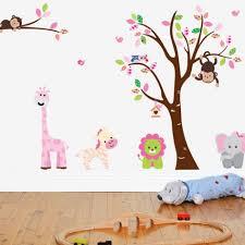 Baby Nursery Wall Decals Canada Baby Nursery Impressive Tree Animal Nursery Wall Decal Vinyl