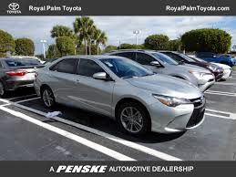 toyota car information 2017 used toyota camry se automatic at royal palm toyota serving