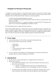 template for research proposal thesis doctor of philosophy