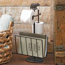 rustic towel bars and lodge bathroom accessories