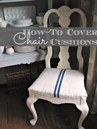 how to cover chair cushions grain sack dining room chair