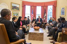 president obama meets with dreamers in the oval office youtube