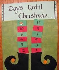 christmas countdown calendar craft 2017 best template idea