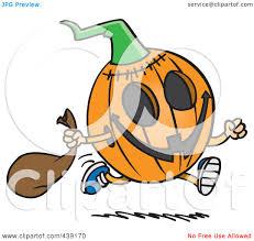 halloween pumpkins cartoons royalty free rf clip art illustration of a cartoon running