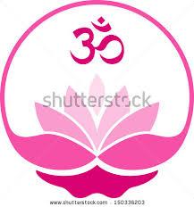 Lotus Flower With Om Symbol - om flower stock images royalty free images u0026 vectors shutterstock