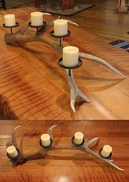 Christmas Decorations Using Deer Antlers by 64 Best Antler Candle Holders Images On Pinterest Antlers