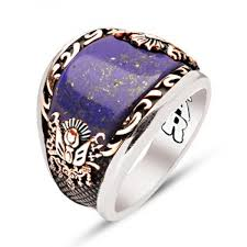 mens stone rings images Lapis lazuli stone sterling silver mens ring ottasilver jpg