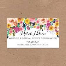 Wedding Decor Business Cards Flowing Script Business Card Calling Card Mommy Card Contact