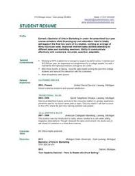 Job Resume Template by Example Of Resume For Graduate Examples Http Www