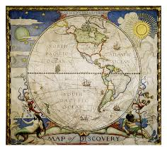 map of discovery western hemisphere tubed