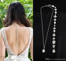 back drop necklace images 2018 swarovski cz crystal backdrop necklace wedding jewelry jpg