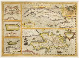 Carribbean Map Map 1619 Mercator Hondius