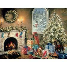 jigsaw puzzles not a creature was stirring 1000 glow in