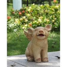 pigs lawn ornaments you ll wayfair