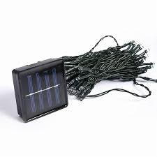 Outdoor Solar Panel Lights - outdoor solar panel powered light 10m 50 led automatic garden