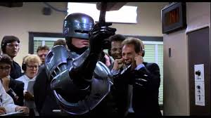 robocop electrocutes himself youtube robocop s prime directives shooting range youtube