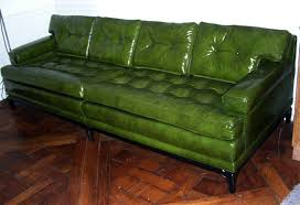 Antique Couches Monteverdi Young Green Leather Sofa For Sale At 1stdibs