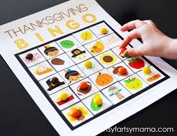 thanksgiving bingo artsy fartsy