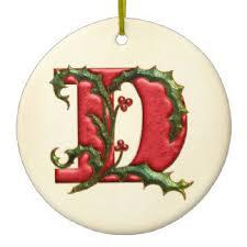 alphabet letter d ornaments keepsake ornaments zazzle