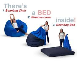 bean bag chair that converts to a bed the coolest stuff ever
