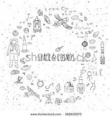 doodle galaxy invaders depositphotos 59653533 seamless space pattern childish background