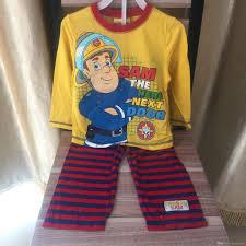 2017 cartoon fireman sam clothing sets sam spring pajama autumn