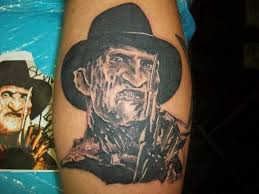 simple freddy krueger portrait tattoo design idea golfian com