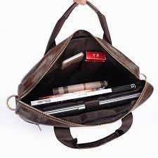 Cowhide Briefcase Genuine Leather Briefcases 14 Inches Laptop Bags Men U0027s Briefcase