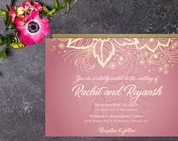 hindu wedding invitation hindu wedding invite etsy