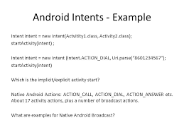 startactivity android introduction to android ppt