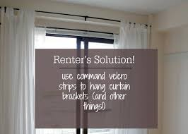Easy Way To Hang Curtains Decorating How Hang Curtains Without Putting Holes In The Wall Hang