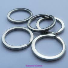 key ring rings images 25mm 2 5 x 1mm gauge silver tone strong flat keyring split ring jpg