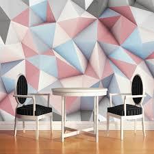 cr r sa chambre 3d moderne simple 3d stéréo géométrique papier peint mural 3d créative