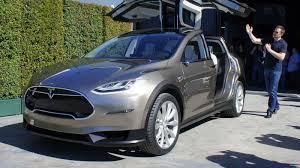 Tesla Minivan Tesla Model X Electric All Wheel Drive And Crazy Folding Doors