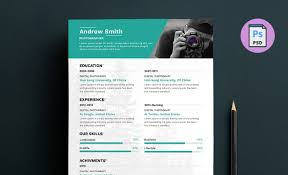 photographer resume template photographer resume template free psd