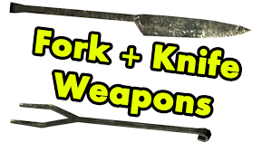 Kitchen Forks And Knives Skyrim Wieldable Forks And Knives Youtube