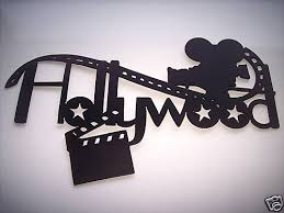 Home Movie Theater Wall Decor Hollywood Movie Camera And Film Home Movie Theater Decor 2 Foot