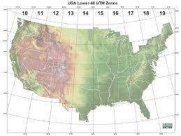 utm zone map map basics