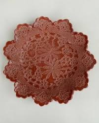 lotus bowl 148 00 maggie weldon lace pottery ornamental