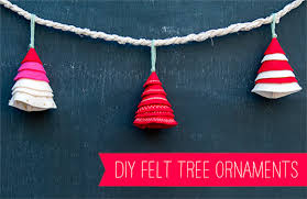 simple felt tree ornament tutorial handmade