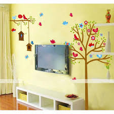 wonderful wall stickers for living room using vinyl decals birds