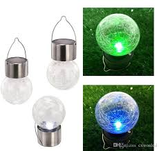 Solar Outdoor Light Fixtures by 2017 Solar Powered Color Changing Outdoor Led Light Ball Crackle