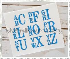 stacked monogram 1 2 size only boys stacked monogram machine embroidery font